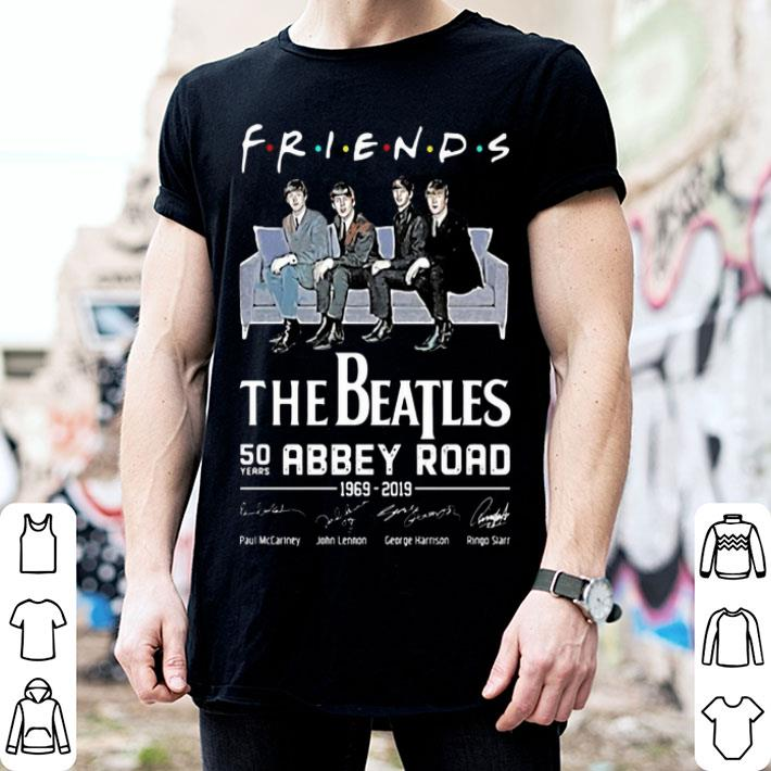 Friends The Beatles 50 years Abbey Road 1969-2019 signatures shirt