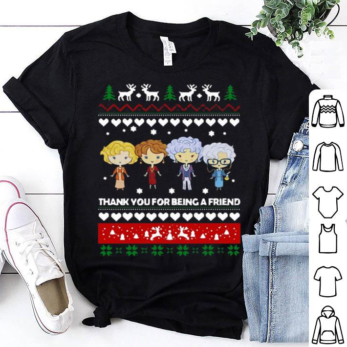 Golden Girls thank you for being a friend ugly christmas shirt