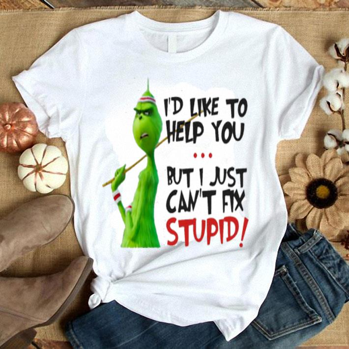 Grinch I'd like to help you but I just can't fix stupid shirt