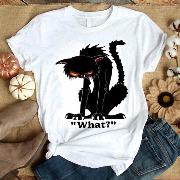 Grumpy black cat what shirt