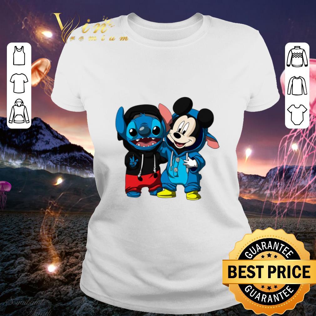 Hot Baby Mickey and Stitch shirt