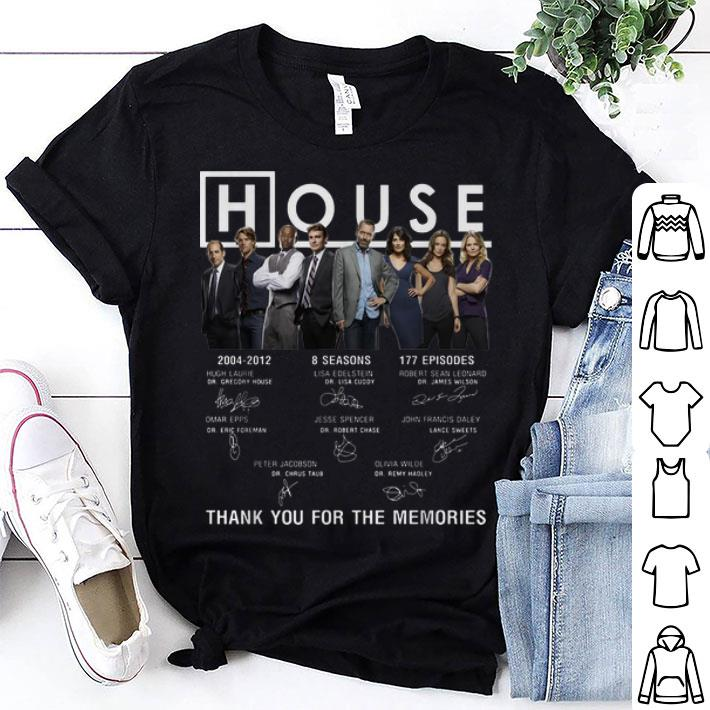 House 2004-2012 8 seasons signatures thank you for the memories shirt