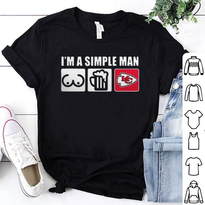 I'm a simple man love bobs beer and Kansas City Chiefs shirt