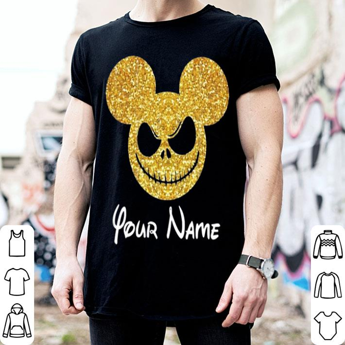 Jack Skellington Mickey Face Your Name shirt