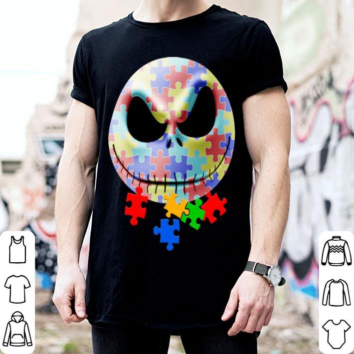 Jack Skellington face puzzle Autism shirt