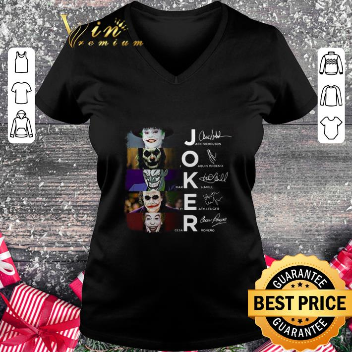 Joaquin Phoenix Joker 2019 Heath Ledger shirt