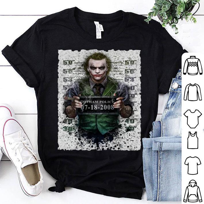 Joker Gotham Police 07-18-2008 shirt