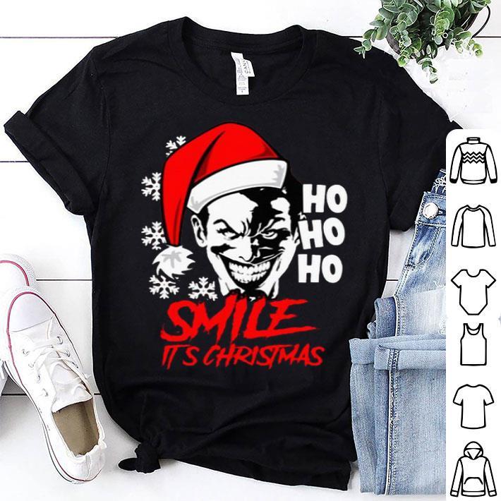 Joker Smile It's Christmas Ho Ho Ho shirt