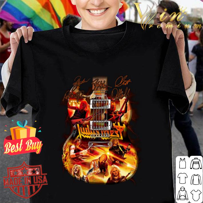 Judas Priest guitarist signatures shirt