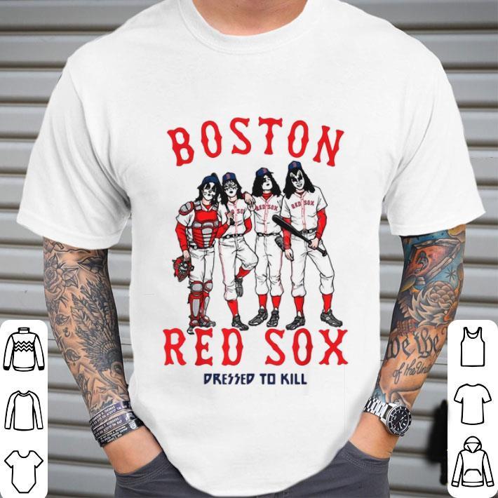 Kiss Boston Red Sox dressed to kill shirt