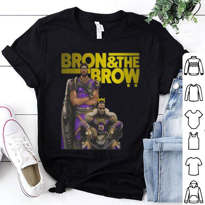 LeBron James Bron & The Brow Anthony Davis Lakers shirt