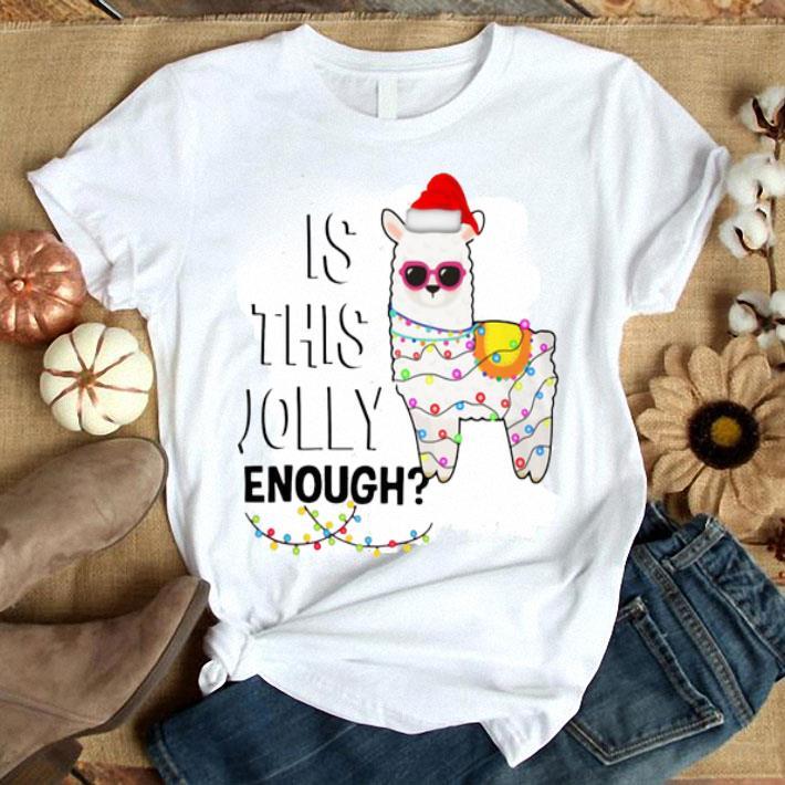 Llama is this jolly enough Christmas lights shirt
