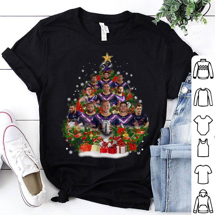 Melbourne Storm players Christmas trees shirt