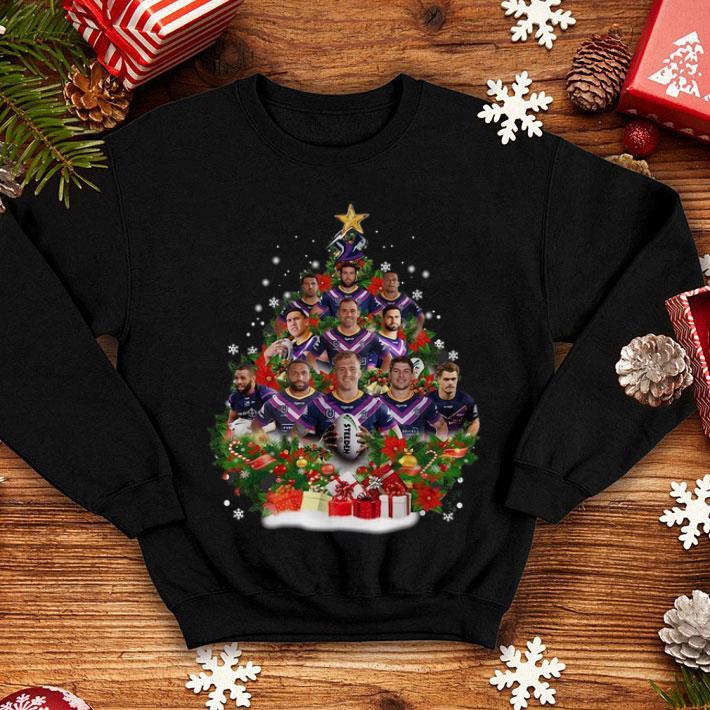 Melbourne Storm players Christmas trees shirt