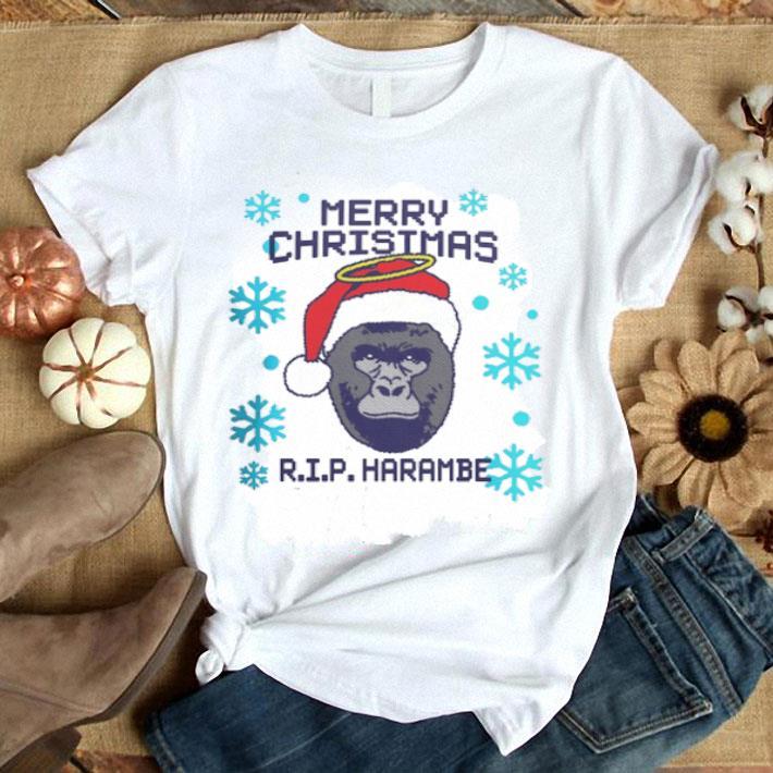 Merry Christmas RIP Harambe shirt