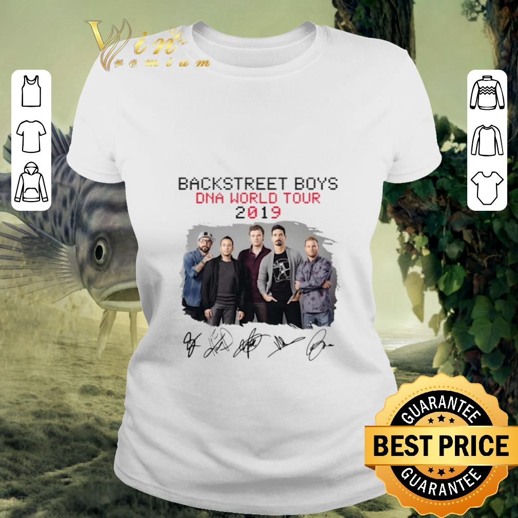 Nice Backstreet Boys Dna World Tour 2019 Signatures shirt