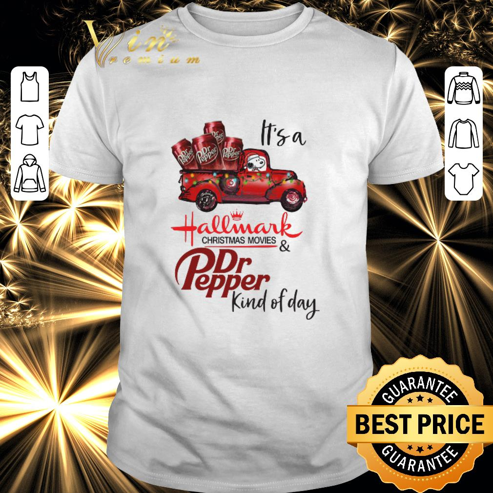 Original Snoopy It's a Hallmark christmas movies Dr Pepper kind of day shirt 1