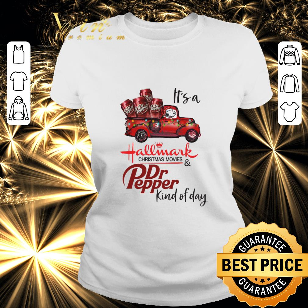 Original Snoopy It's a Hallmark christmas movies Dr Pepper kind of day shirt 2