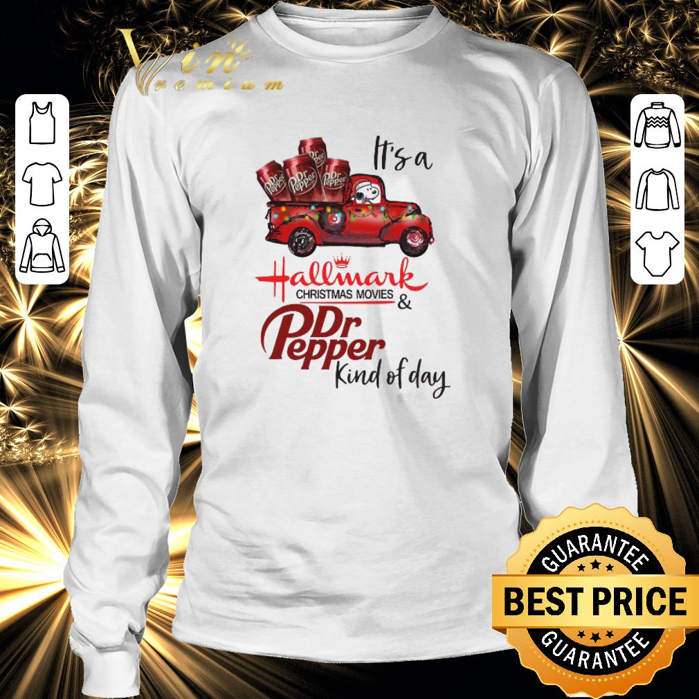 Original Snoopy It's a Hallmark christmas movies Dr Pepper kind of day shirt 3