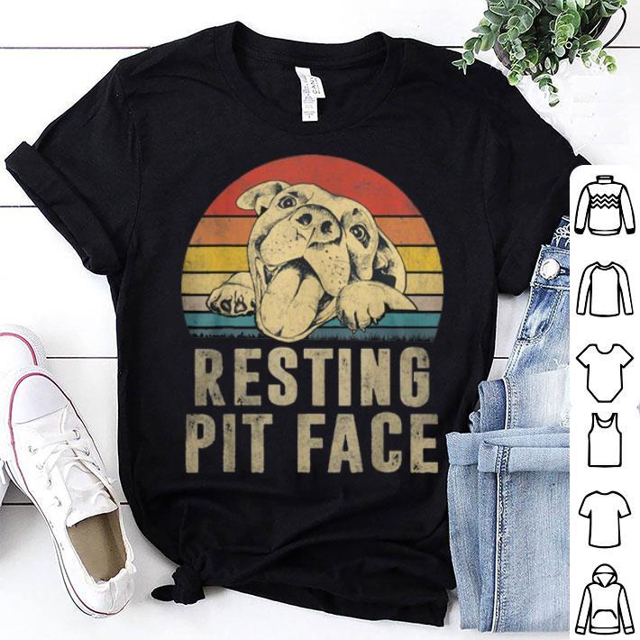 Pitbull Resting Pit face Vintage shirt