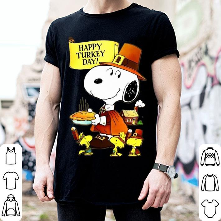 Snoopy Woodstock Happy Turkey Day shirt