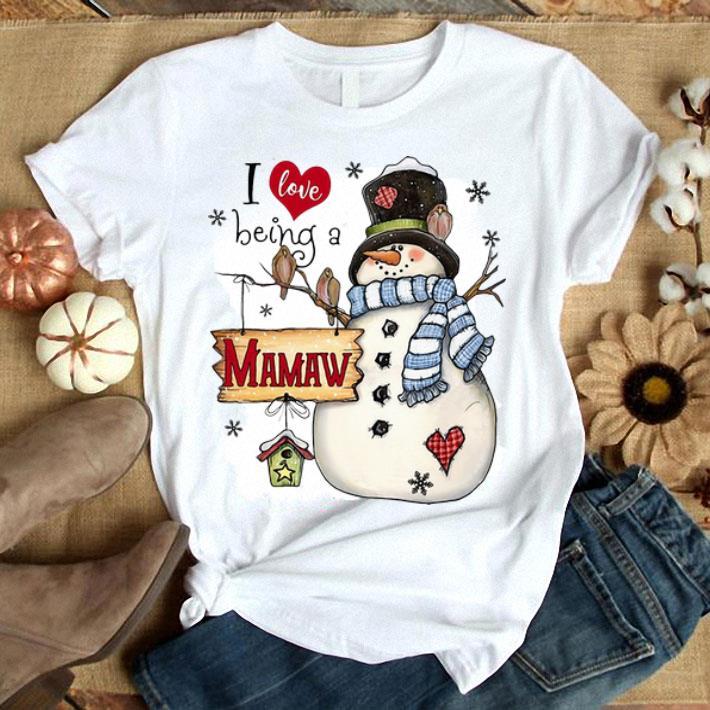 Snowman I love being a MAMAW Christmas shirt