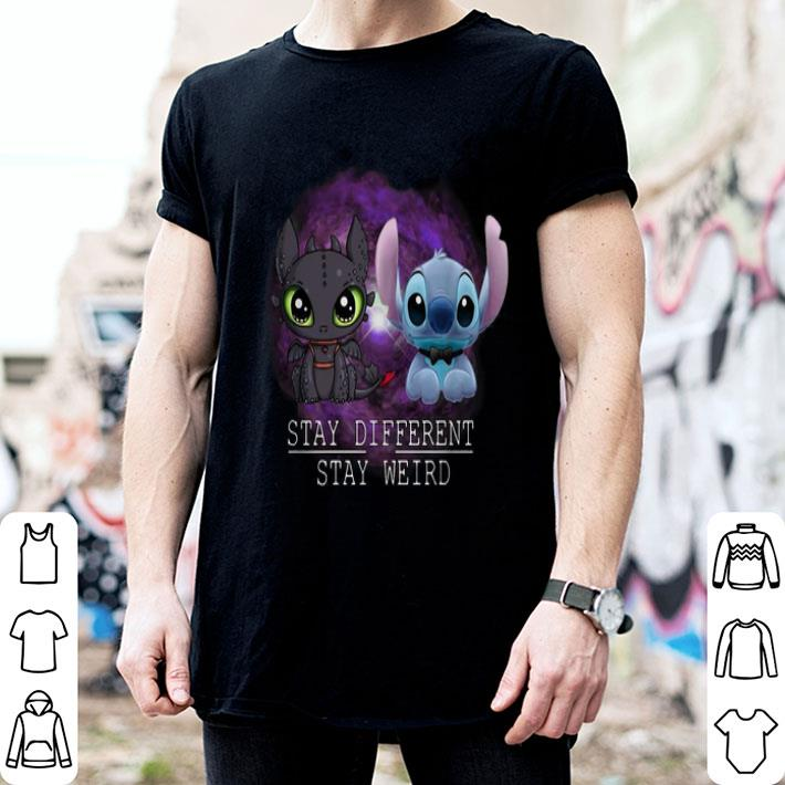 Stitch and Night Fury Stay different stay weird-Recovered shirt