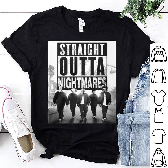 Straight Outta Nightmares horror movie characters shirt