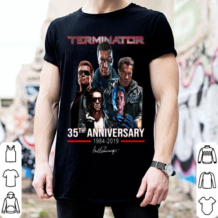 Terminator 35th anniversary 1984-2019 signature shirt