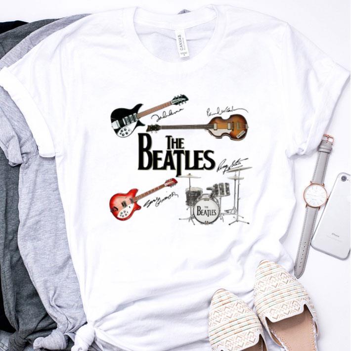 The Beatles Guitars Instrument Signatures shirt