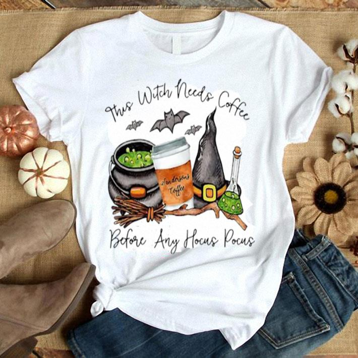 This Witch Needs Coffee Sandersons cofee Before Any Hocus Pocus shirt