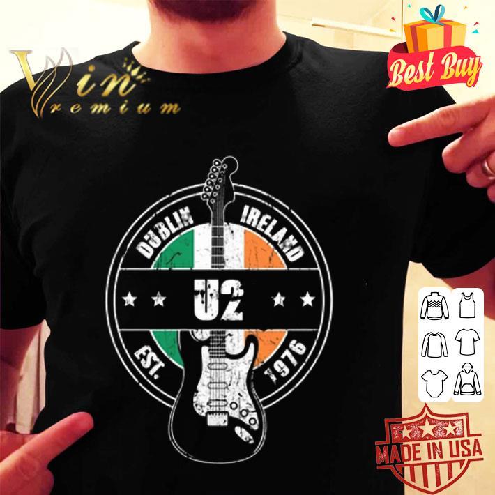 U2 Dublin Ireland Est 1976 guitarist shirt