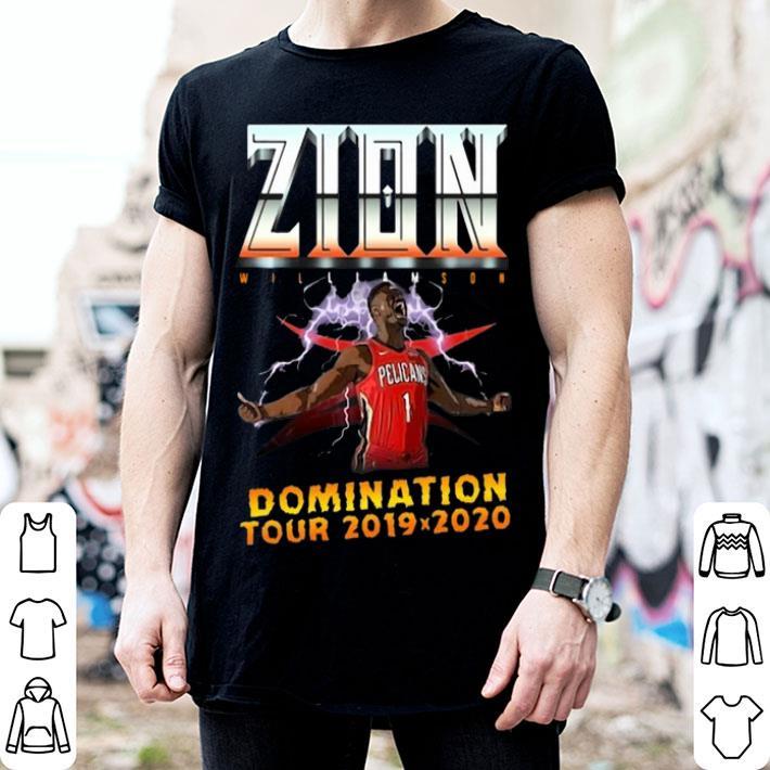 Zion Williamson Domination tour 2019 2020 shirt