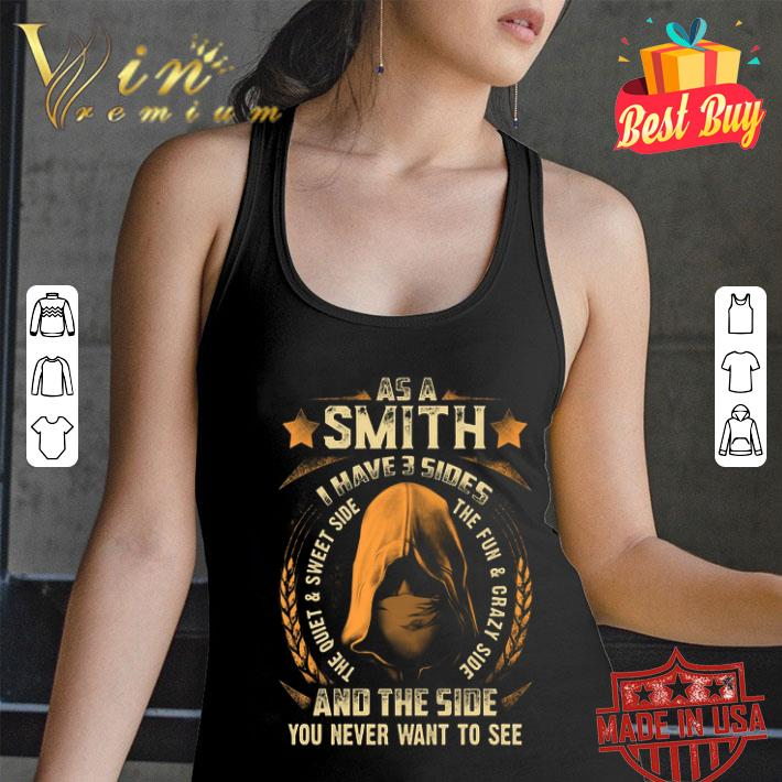 As a Smith i have 3 sides and the side you never want to see shirt