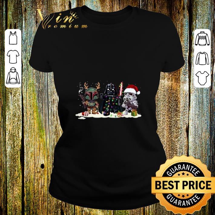 Boba Fett Darth Vader Stormtrooper Star Wars Christmas shirt