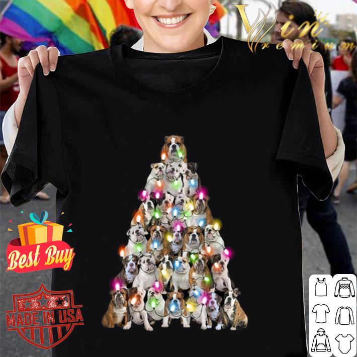 Bulldog Christmas tree shirt