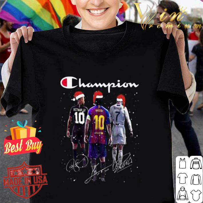 Champion Neymar Jr Messi Cr Ronaldo Christmas signatures shirt
