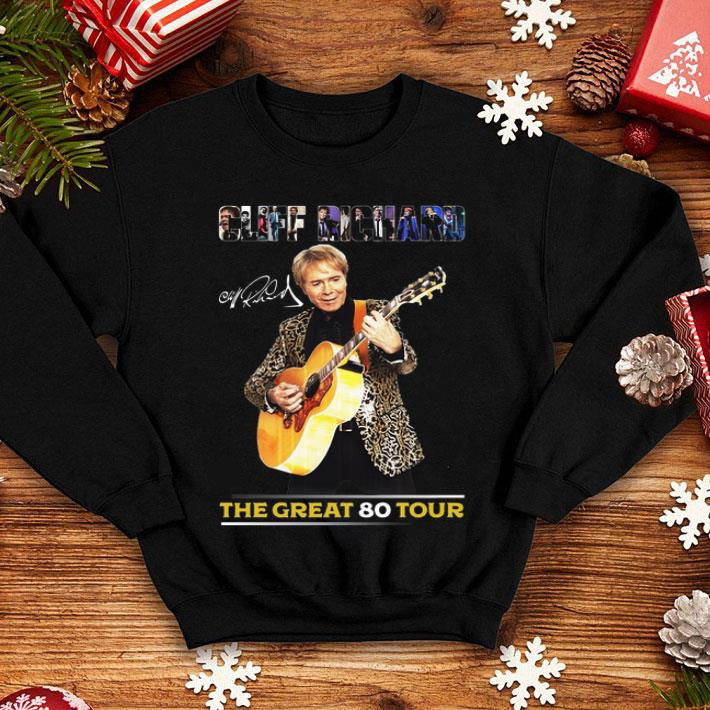 Cliff Richard signature the great 80 tour shirt