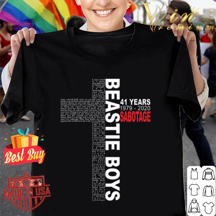 Cross Beastie Boys 41 years 1979-2020 Sabotage shirt
