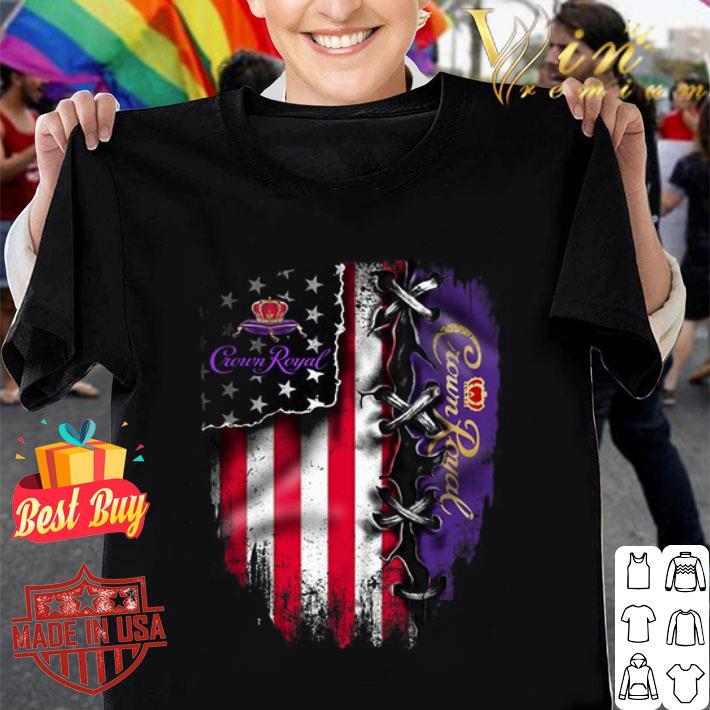 Crown Royal American flag shirt