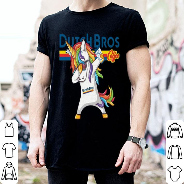 Dabbing unicorn Dutch Bros Coffee shirt