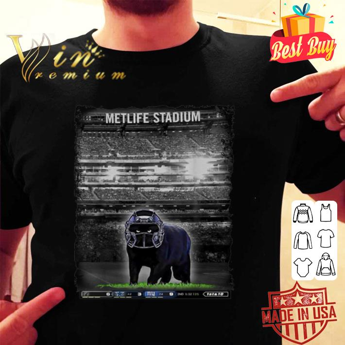 Dallas Cowboys Metlife Stadium black cat shirt