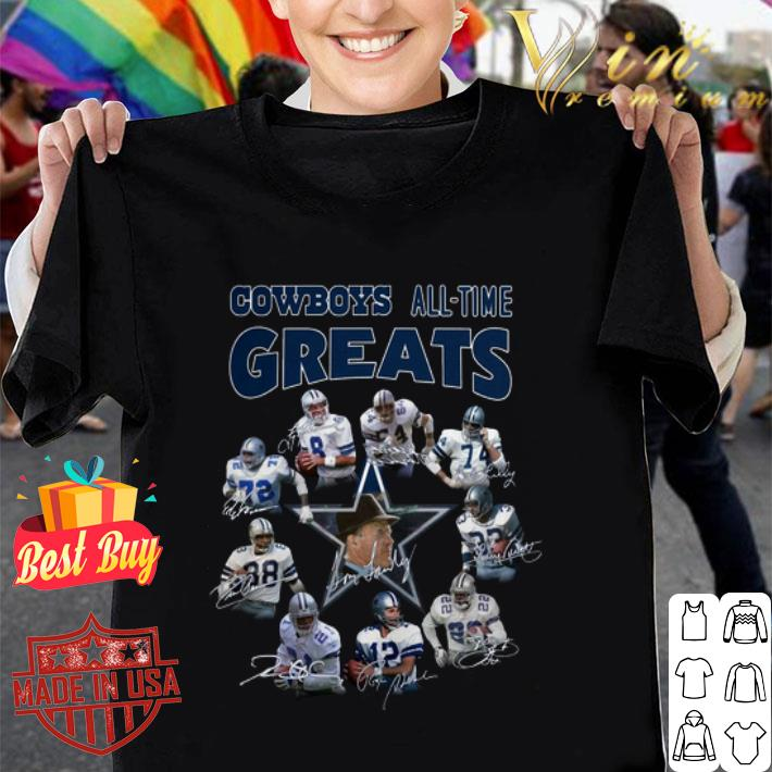 Dallas Cowboys all-time greats signatures shirt