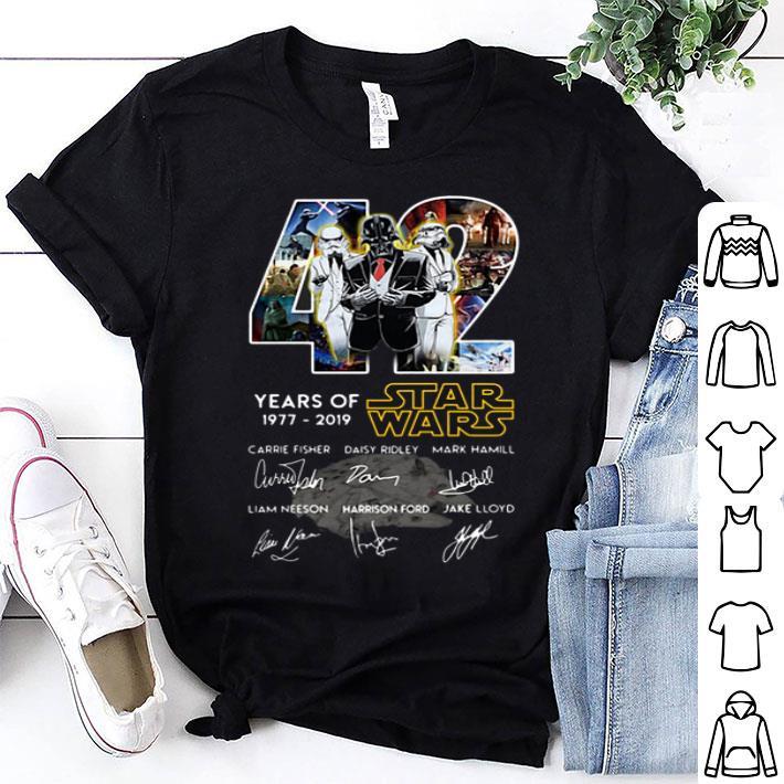 Darth Vader Stormtrooper 42 Years Of Star Wars Signatures shirt