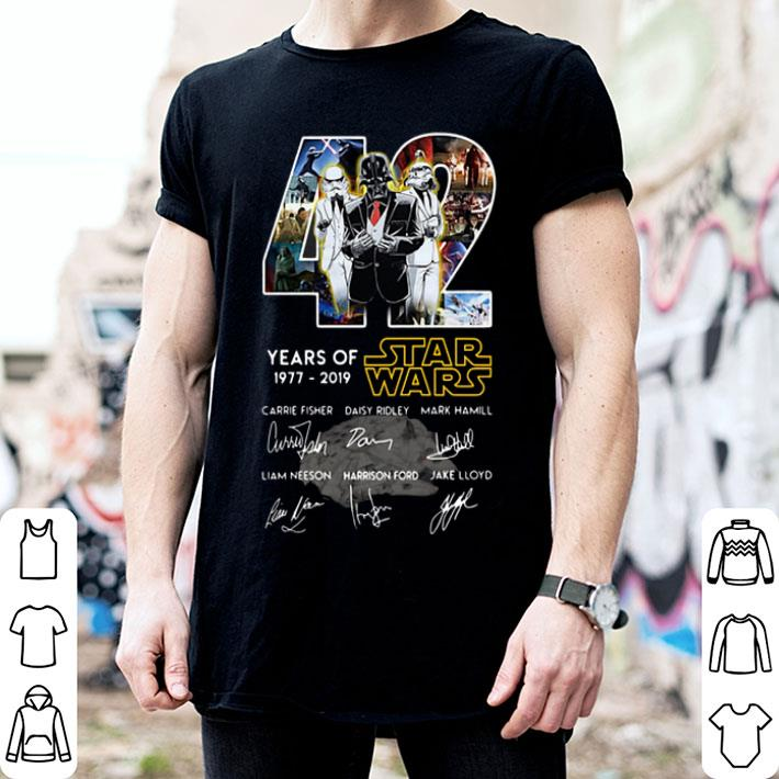 Darth Vader Stormtrooper 42 Years Of Star Wars Signatures shirt