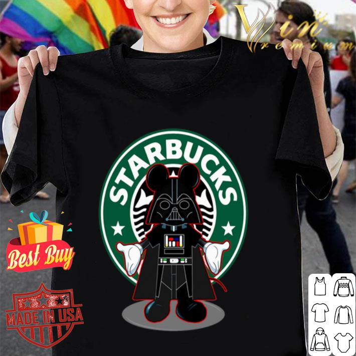 Darth vader Mickey Starbucks shirt
