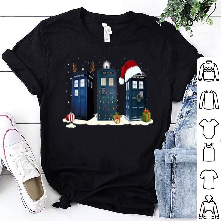 Doctor Who Police Box Christmas shirt