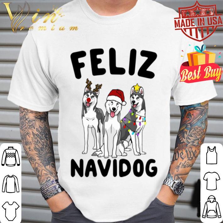 Feliz Navidog Husky Christmas shirt