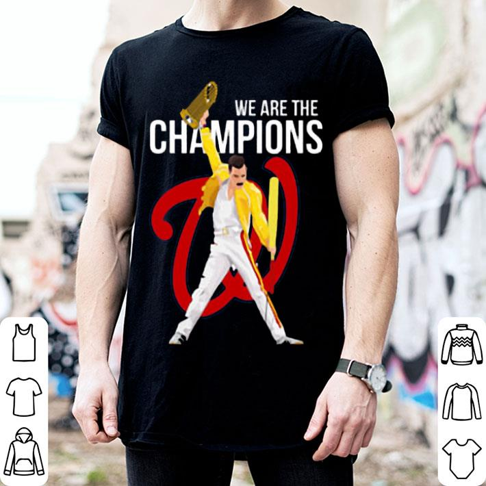 Freddie Mercury Washington Nationals we are the champions shirt