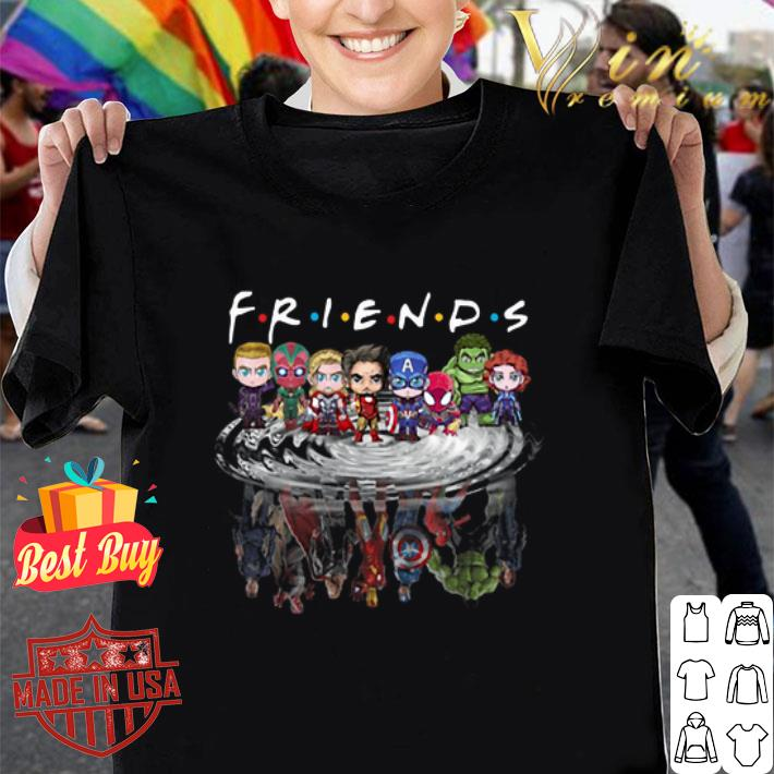 Friends Avengers Chibi characters reflection shirt